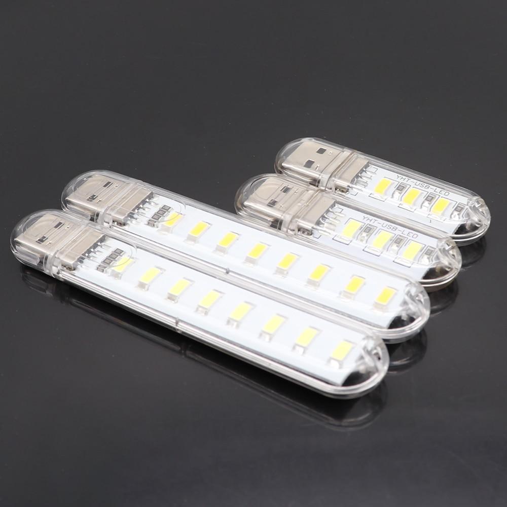 2pcs Mini 5V USB LED Light Desk Table Lamp Flashlight Portable Night Light For Power Bank PC Laptop Camping Book Reading Light