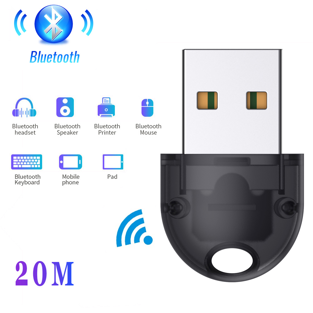 USB Bluetooth Dongle Bluetooth 5.0 20m Wireless Adapter Mouse Keyboard Receiver Headphone PC Laptop Audio Receiver Transmitter 1