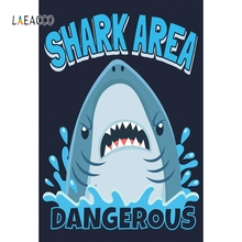 15x10ft Background Shark Sign Photography Backdrop Studio Photo Props LHFU117