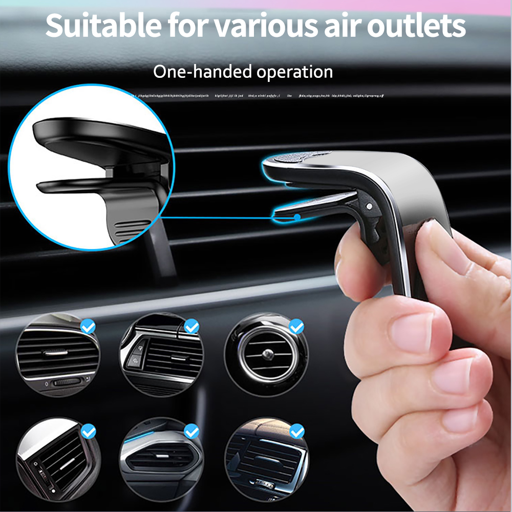 Kaleno Metal Magnetic Car Phone Holder Stand Car Air Vent Magnet Stand For iphone Samsung Xiaomi in Car GPS Smartphone  Holder 3