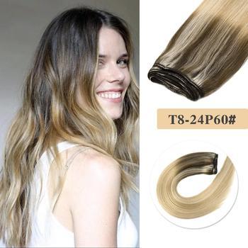 цена на Neitsi Virgin Remy Human Hair Weft 100% Human Hair Weaves Extensions For Salon 20 100g/pc Balayage Colored