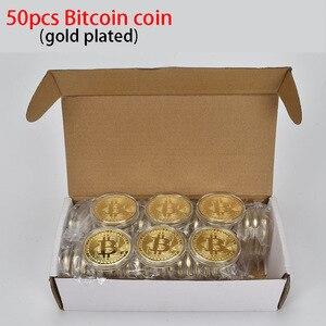 Image 2 - 50 teile/los Sammlerstücke Bitcoin münze BTC Bit Metall Münze Gedenkmünzen Für Souvenir
