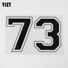 YJZT-pegatina de vinilo para coche, número de personalidad, 14,9 CM x 9,6 CM, 73, 13D-0319