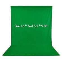 1,6*3 м/5,2 * 9.8ft зеленый Экран для фотостудии видео нетканых белый черный зеленый фон фотография фон