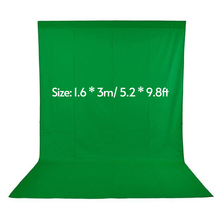 1.6 * 3m/ 5.2 * 9.8ft Green Screen for Photography Studio Video Nonwoven White Black Green Fond Photographie Background