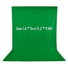 1.6*3m/ 5.2 * 9.8ft tło Green Screen dla fotografia Studio wideo włókniny biały czarny zielony lubi fotografia tło