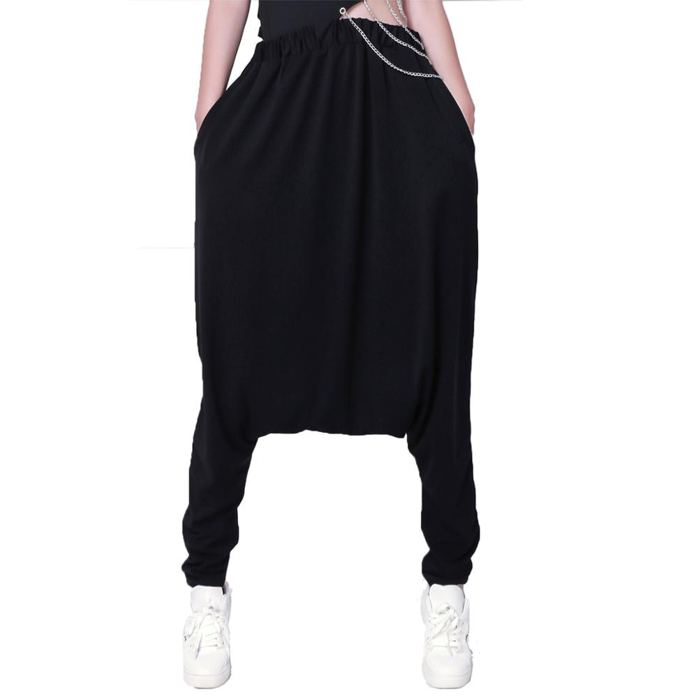 Kids Adults Loose Thin Jazz Red Black patchwork Spliced Hip Hop Dance Pants