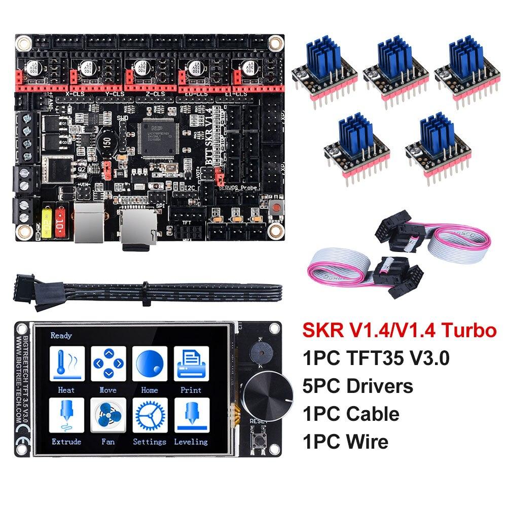 BIGTREETECH SKR V1.4 Turbo BTT SKR V1.4 carte 32 bits TFT35 V3.0 pièces d'imprimante 3D TMC2130 TMC2209 TMC2208 UART Wifi vs MKS GEN L