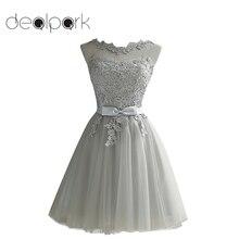 נשים תחרה שמלה רקום רשת טול Slim אלגנטי ליידי נסיכת שושבינה חתונה כדור שמלת מפלגה שמלות נקבה בתוספת גודל