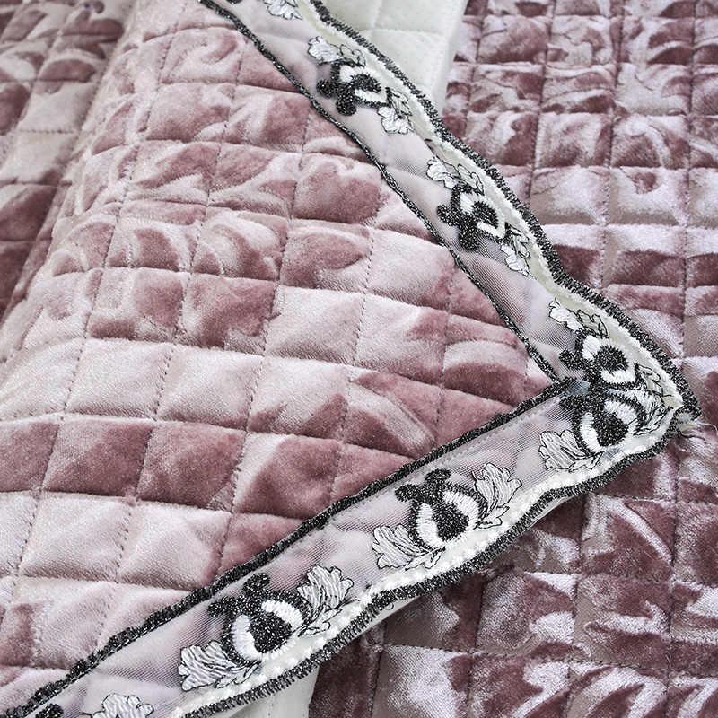 الراقية الفاخرة الأوروبية الدانتيل أفخم قماش من الألياف غرفة المعيشة أطقم أرائك غطاء أريكة منشفة الأزياء الحد الأدنى أريكة جلدية وسادة