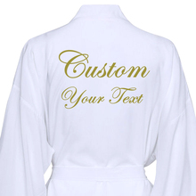 Text Custom Cotton Kimono Wedding Bride Bridesmaid Robes W / Lace Trim Wedding B