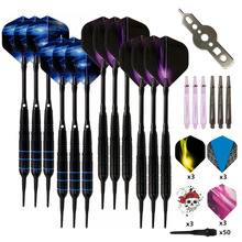 12Pcs/set Professional Electronic Soft Tip Darts 19g Darts with Aluminum Alloy Shaft Dardos 4 Colors