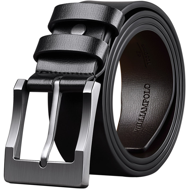 New High Quality Luxury Brand Leather Belt Designer Belts Men Pin Buckle Black Business Trouser Strap Cinturones Hombre Cinto|Men