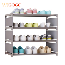 Multicolor Simple Shoe Cabinets Ironwork Assembly of Shoe Rack with Modern Simple Dustproof Shoe Cabinet Four floors 50cm Hight simple shoe cabinet dustproof shoe cabinet to receive a single row large capacity shoe cabinet simple pole shoe rack