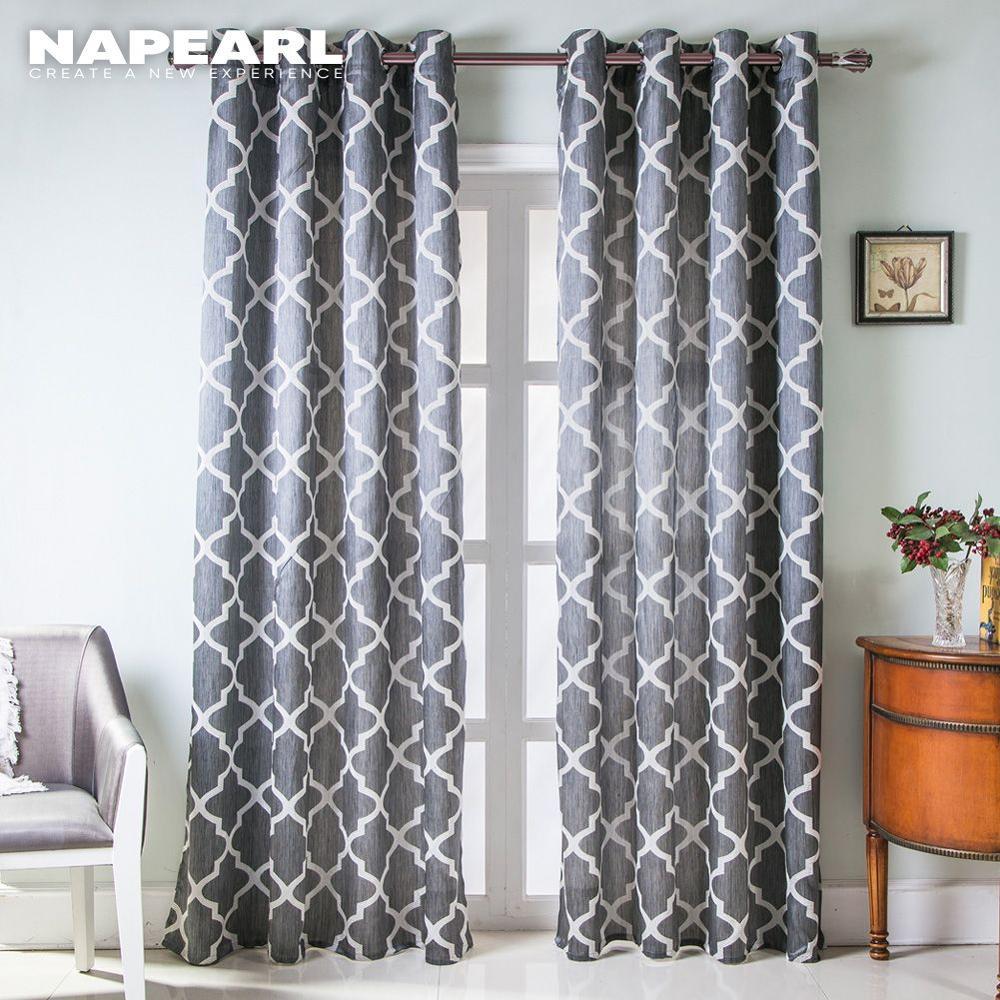 napearl rideau moderne semi occultant 1 piece salon fenetre cuisine courte traitement pret a l emploi dessus de chambre a coucher
