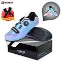 Darevie/Обувь для шоссейного велоспорта с разноцветными жемчужинами-хамелеонами; Обувь для велоспорта с светоотражателем; Обувь для гоночного...