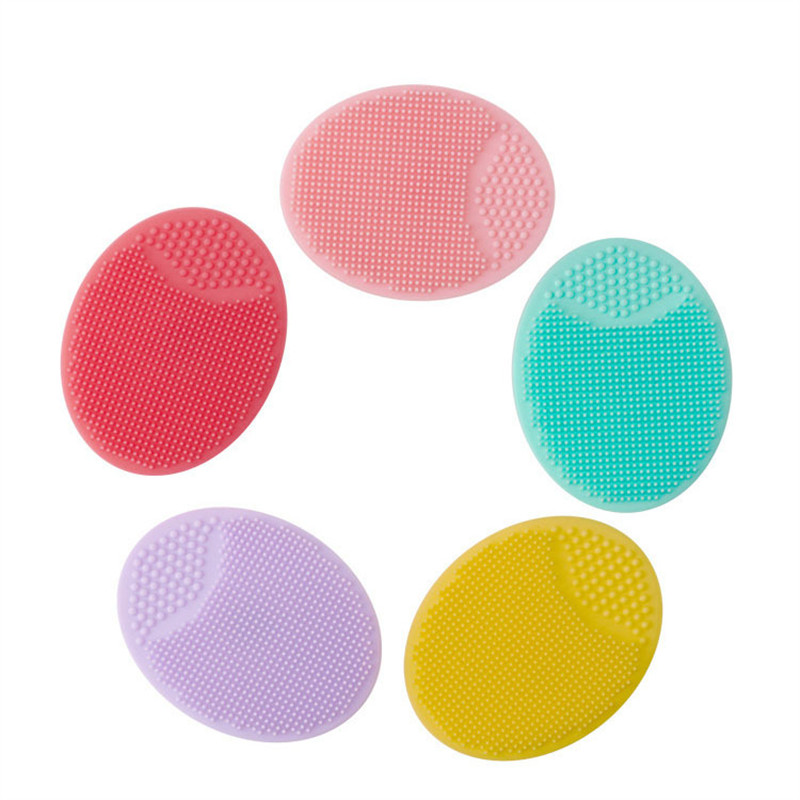 Silicone Beauty Face Washing Pad Face Cleansing Brush Tool Facial Exfoliating Blackhead Soft Deep Cleaning Face Brushes image