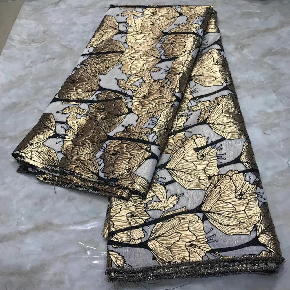African Lace Fabric 2020 Newest Nigerian Jacquard Embroidered French Net Lace High Quality For Party Dress TS9045