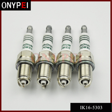4 PCS IK16 5303 รถเทียนIRIDIUM POWER Spark Plugปลั๊กเรืองแสงสำหรับToyota Nissan Honda Hyundai Kia Mercedes benz IK16 5303