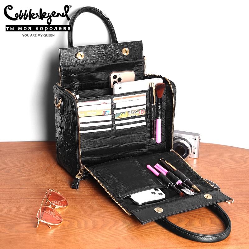 Cobbler Legend Brand Luxury Genuine Leather Women Handbag Shoulder Crossbody Bag Women Bag Large Capacity Tote Designer Ladies P