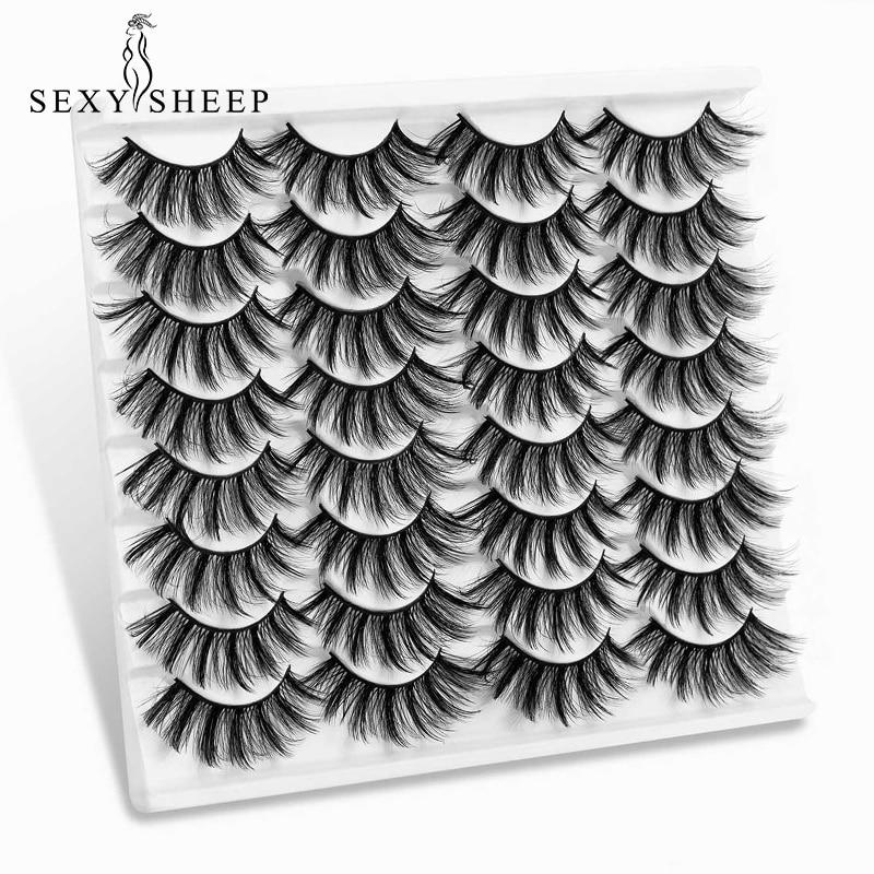 SEXYSHEEP 5/8/16 пар, объемные норковые ресницы, натуральные накладные ресницы, драматические длинные висячие ресницы, увеличение объема, красивые...