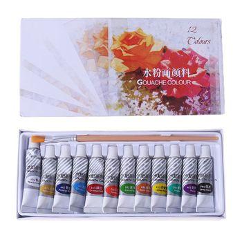 12 18 24 kolorów zestaw akwareli 5ml rurka bogata w żywe kolory dla ucznia tanie i dobre opinie CN (pochodzenie) Kolor farby wody