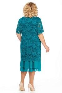 Image 5 - Vestidos de noiva plus size, vestido de mãe da noiva, 2020, longo chá, vestido de festa de casamento, meia manga, duas peças mera de mariee