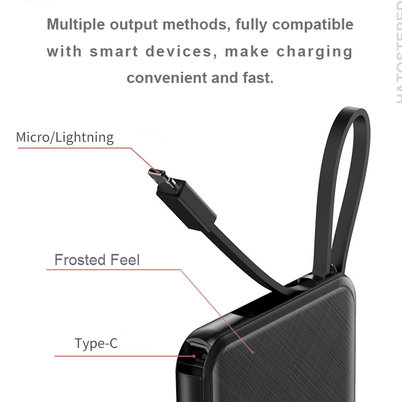 Portable 10000mAh Charging Power Bank For Xiaomi iPhone Samsung Mobile Phone 4