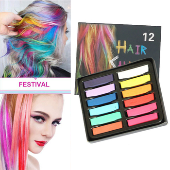 6/12 Color Temporary Hair Color Chalk Dye Colorful Hair Crayon DIY Styling Tools For Girls Kids Party Cosplay Creme 1