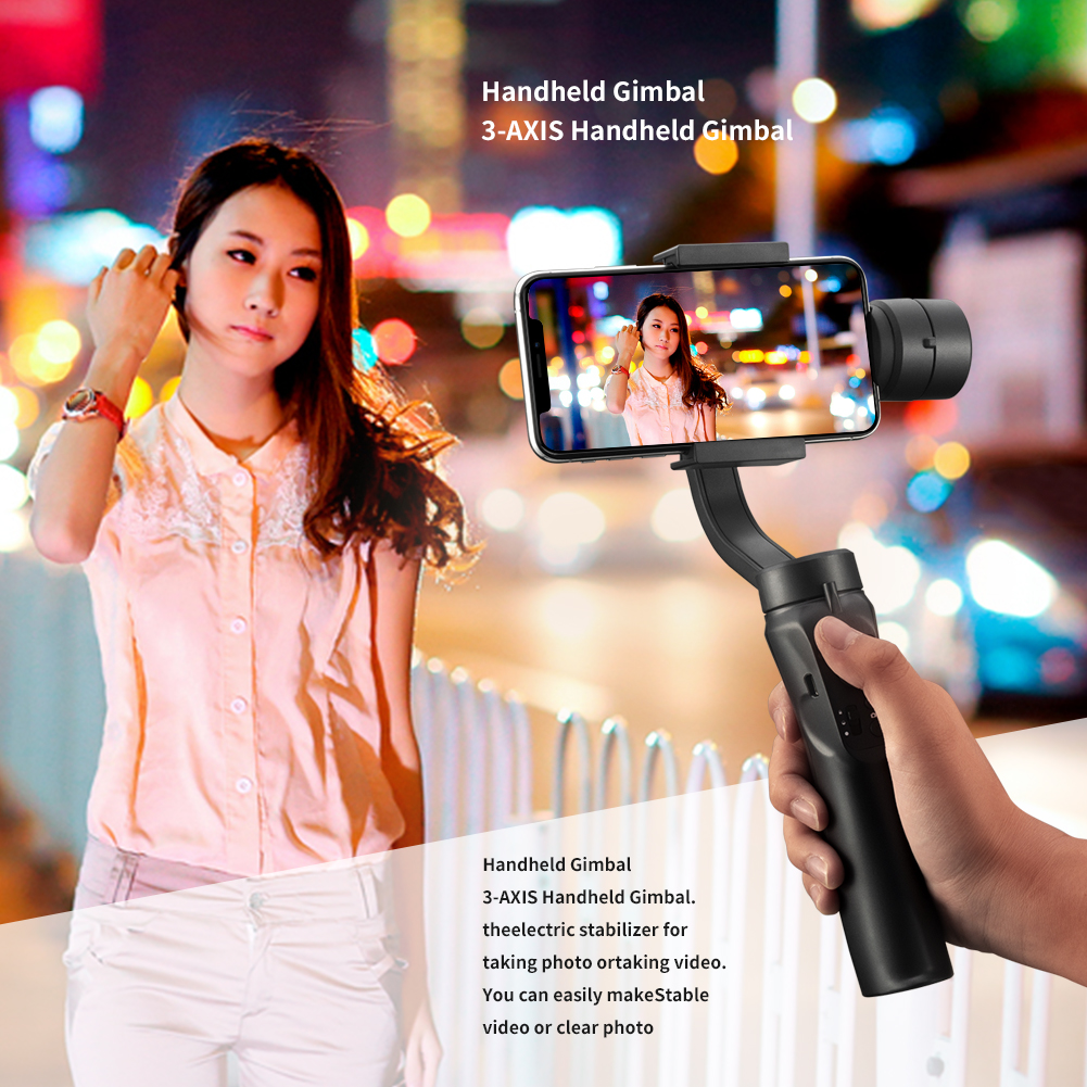 Image 4 - 3 Axis Flexible Handheld Gimbal Stabilizer for iPhone Xs Max Xr X 8 Plus 7 for Huawei for Samsung S9,8 Outdoor phone holder PTZ-in Handheld Gimbal from Consumer Electronics