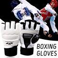 Взрослые половину пальца Борьбы боксерские защитные перчатки одобрено международной торговой Федерацией боевые искусства спортивная защ...
