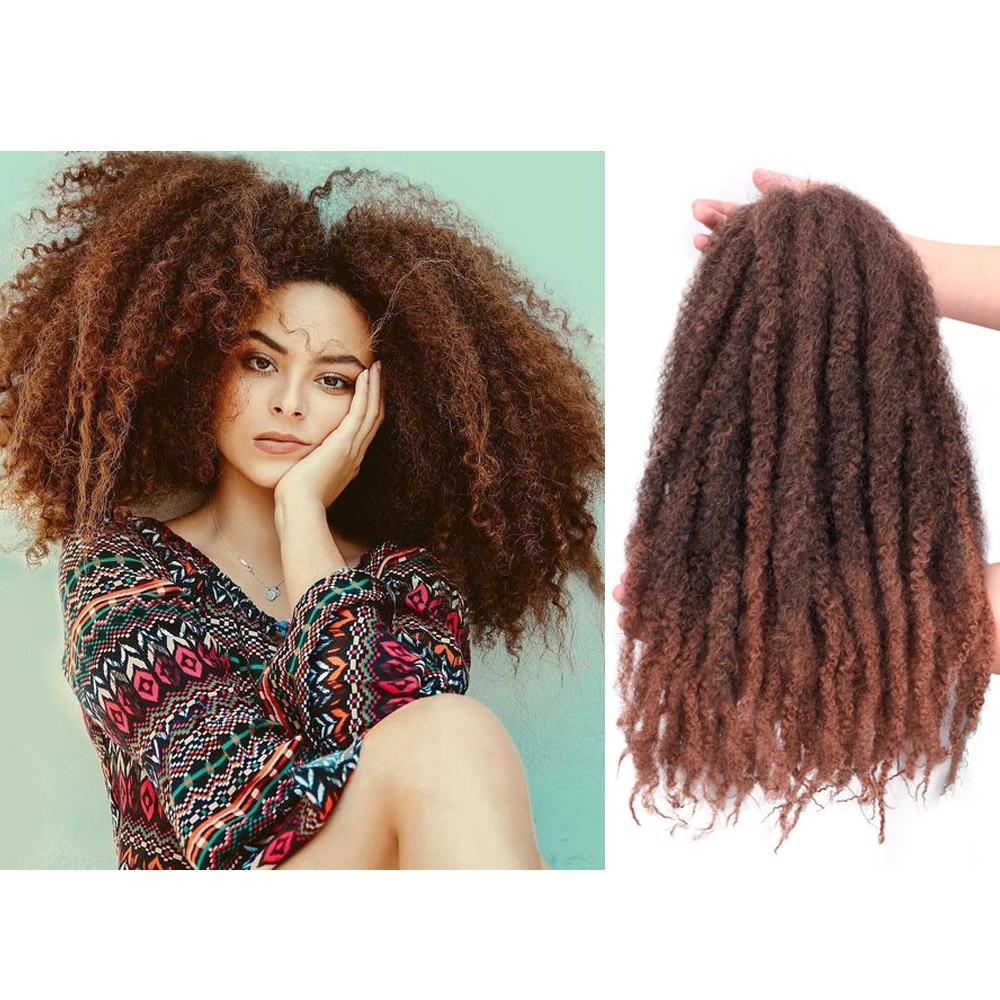 18 дюймов марли крючком косички волосы афро кудрявые синтетические косички волосы для наращивания для женщин| |   | АлиЭкспресс