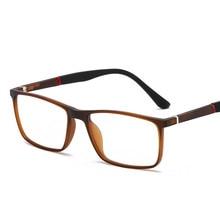 Square Flexible Spectacle Frame Men Glasses Optical Comfortable TR90 Sports Lentes Para Hombre