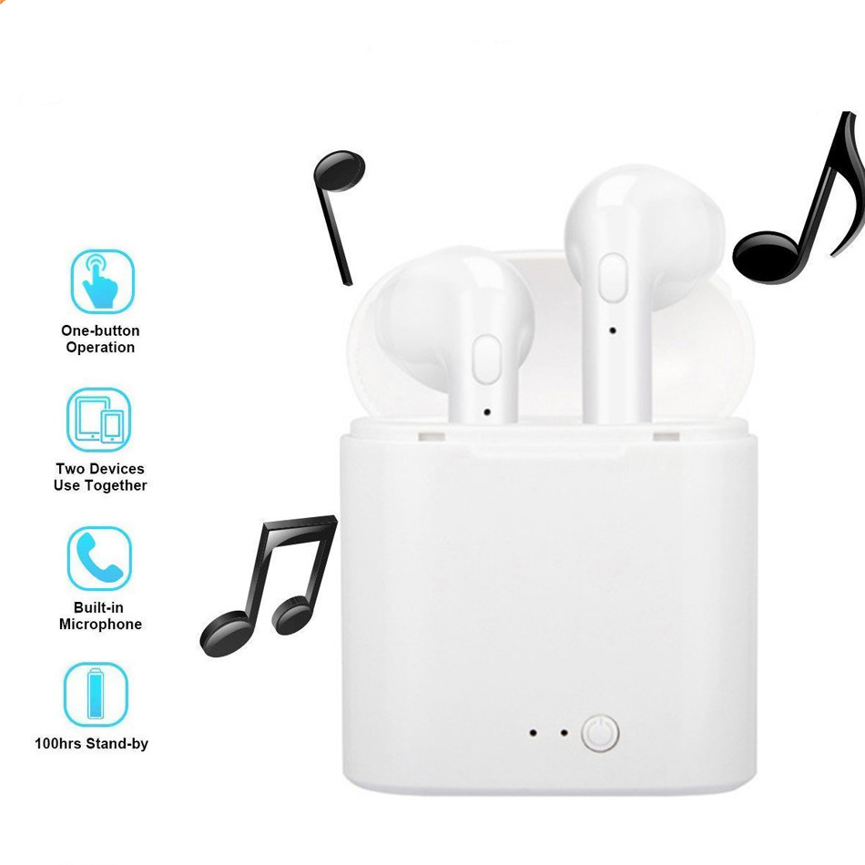 i7s TWS Bluetooth 5.0 Earphone Wireless Headphone Stereo Headset Sports Earbuds with Mic Charge Box For iPhone Xiaomi &All Phone 2