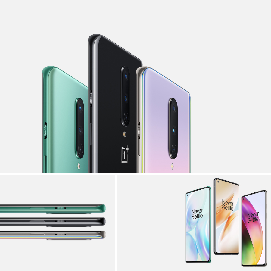 """Global ROM Oneplus 8 5G Mobile Phone 6.55"""" 8/12GB RAM 128/512GB ROM Snapdragon 865 Octa Core 48MP Camera Android 10.0 NFC Phone"""
