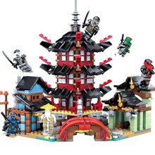 737PCS  Mirage Ninja  Temple  DIY Building blocks  with Lepined sets Toys for Kids Bricks  Building Blocks compatible ninja compatible with lego ninja 70751 2150 pcs 06022 blocks ninja figure temple of airjitzu toys for children building blocks 70603