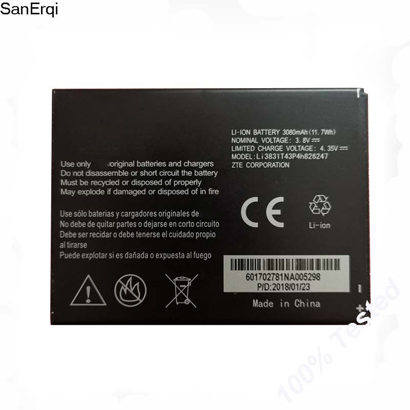 LI3831T42P4H826247 Battery for 3830mAh MAH ZTE Grand X 3 Z959 Cricket mobile phone battery image
