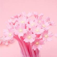 4 шт/лот Милые силиконовые гелевые ручки с розовыми цветами