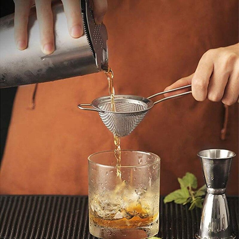 Сито для коктейлей, 4 размера, из нержавеющей стали