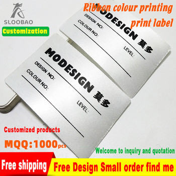 Ribbon Hot Melt Adhesive High-end Luggage bags shoes snowshoe wash care labels  Made design white garment Ironing and sewing