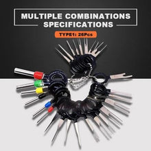 26PCS New Car Plug Terminal Removal Electrical Wiring Crimp Connector Pin Extractor Kit Automobiles Terminal Repair Hand Tools(China)