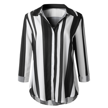 Fashion Striped Print Women Blouse Shirt Button Long Sleeve Top Spring Summer Ladies Casual Blouse Shirts Tops Plus Size S-5XL 5