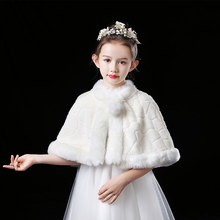 Bolero Shrug Shawls Dress Wraps Fur-Cape Faux-Fur Flower Princess And for Birthday-Party