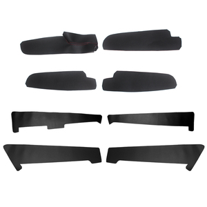 Image 2 - 4PCS Car Styling Interior Microfiber Leather Door Panel Cover Sticker Trim For Mazda 6 2006 2007 2008