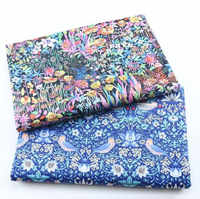160 см ширина ткани с цветами и птицами, хлопковая ткань Tecido, стеганое постельное белье, декоративная ткань дом текстиль, пестрая швейная ткан...