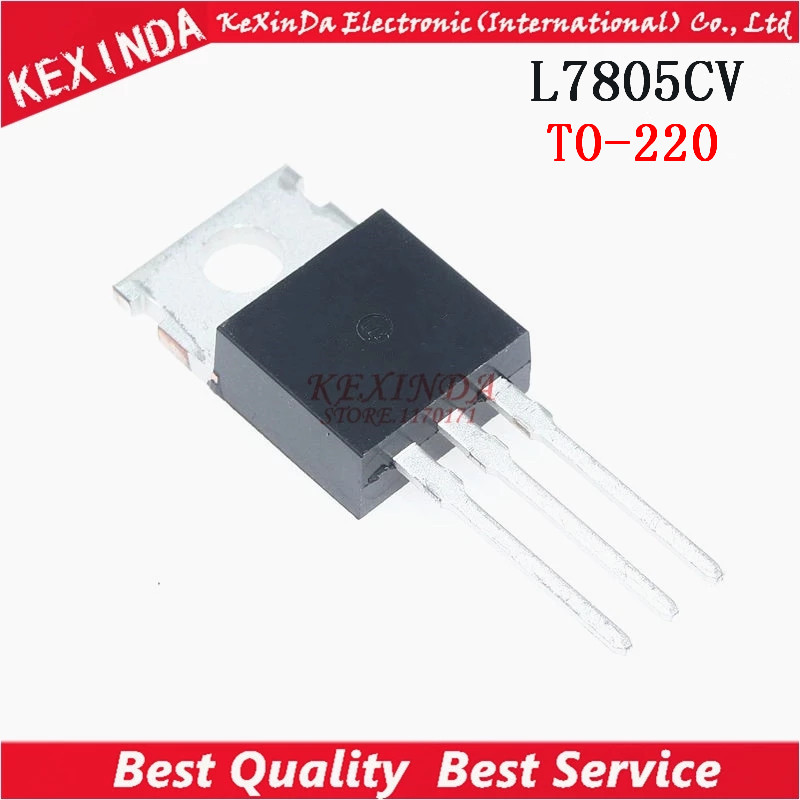 10Stks IC L7805CV L7805 7805 TO-220 Voltage Regulator 5V ST NEW
