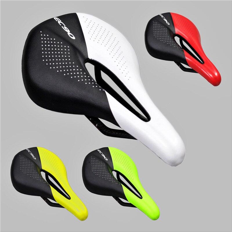 Carbon+Leather Bicycle Seat Saddle MTB Road Bike Saddles Mountain Bike Racing Saddle PU Ultralight Breathable Soft Seat Cushion