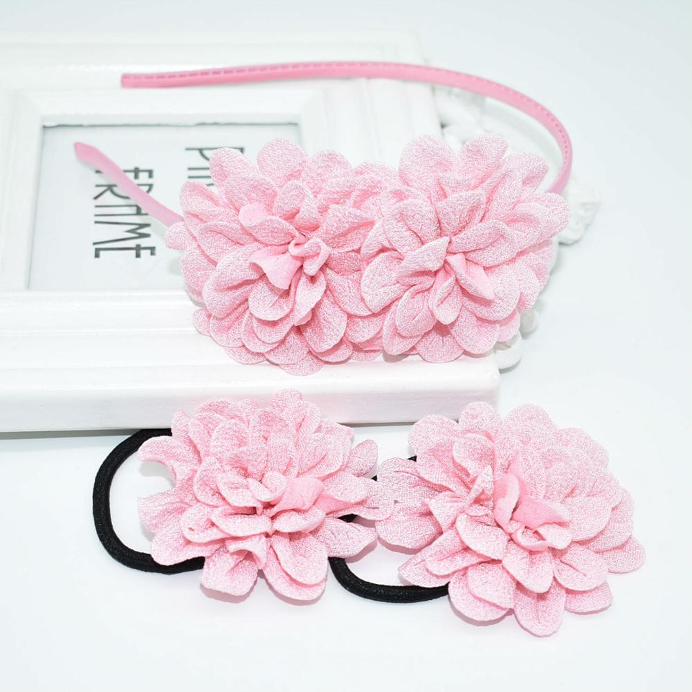 3pcs / lot Girl Flowers Rose Hairband Child Headband Lady Hair Accessories Cute Flowers Hairband Holiday Gift