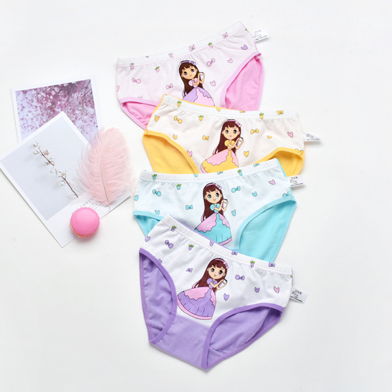 2pcs/lot Fashion  Lovely Cartoon Panties Girl Underwear Kids Panties Girls' Briefs Female Child Underwear Children Clothing Baby