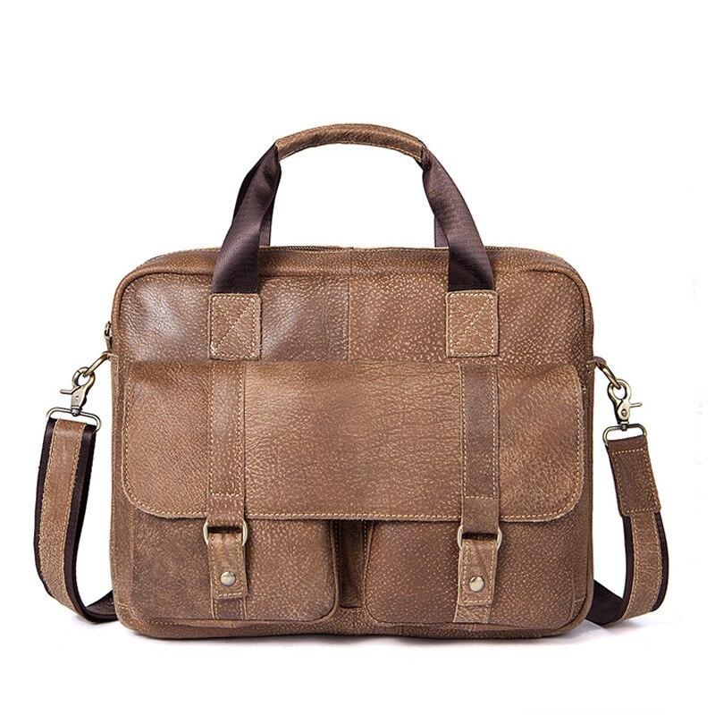 Leather Briefcases Men Leather Man Bag Briefcase Business Men's Fashion Casual Shoulder Bag Messenger Bag Man Bag